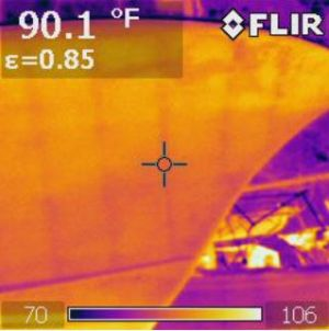 Thermal Imaging by Frigate Marine Surveyors, Lloyd E. Griffin, III, SAMS® AMS®, Elizabeth City, North Carolina, USA